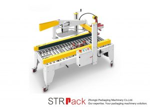 Mesturas de cinta adhesiva automática Máquina seladora de caixa de caixa plegable