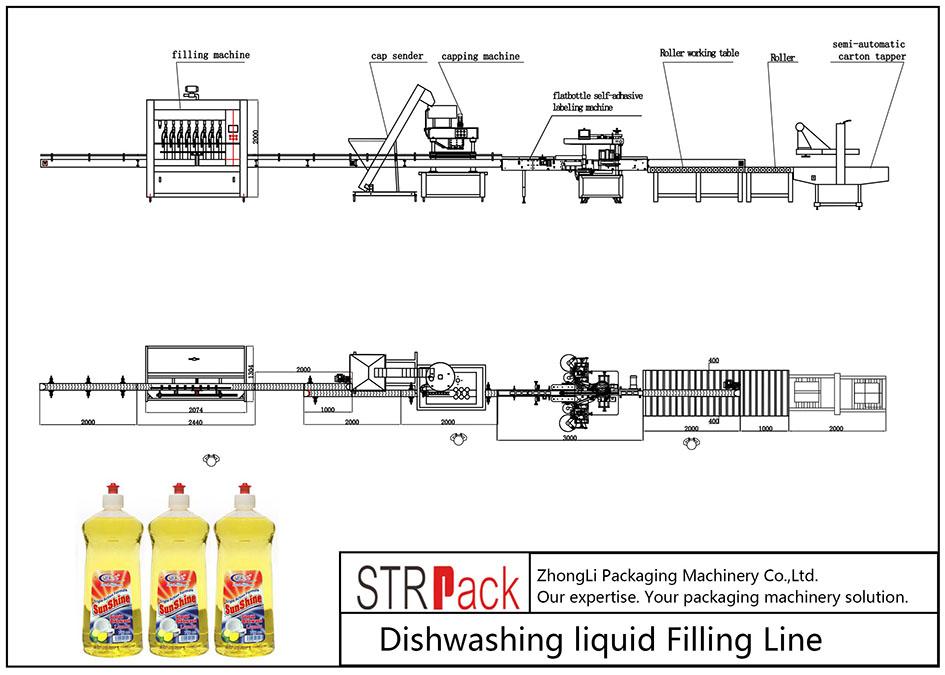 Liña automática de recheo de líquido