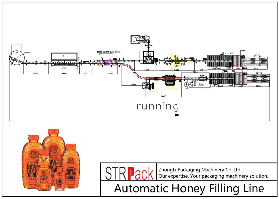 Liña de recheo automática de mel