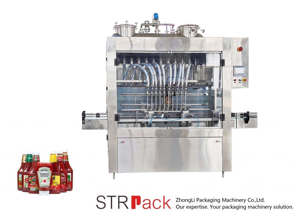 Máquina de recheo automática de salsa