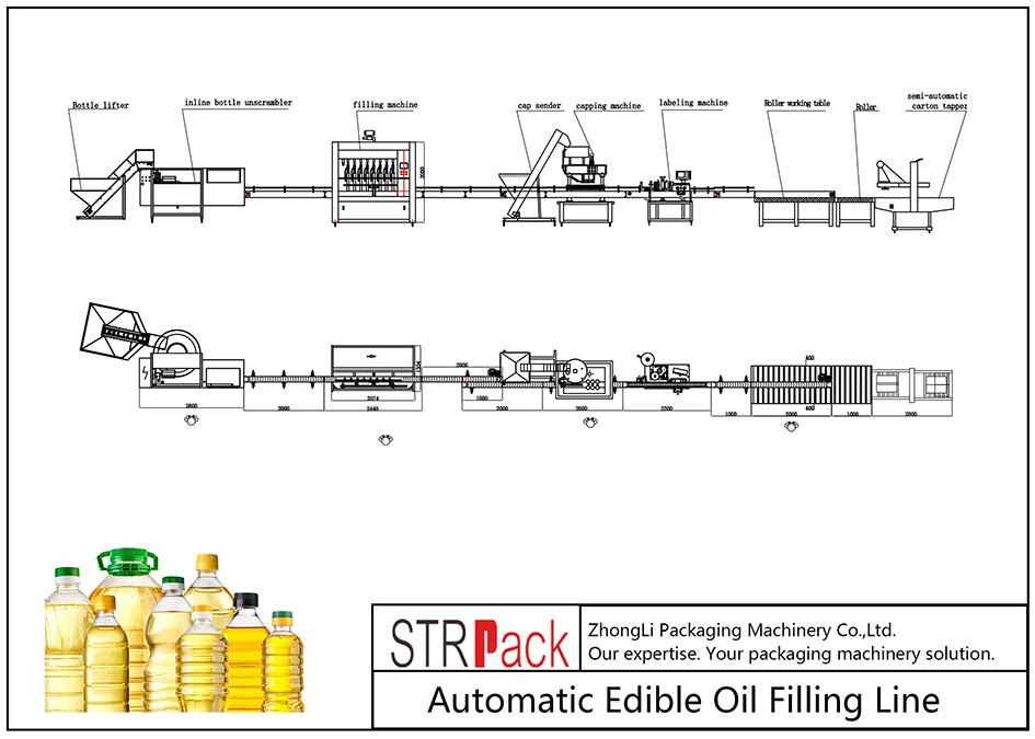 Liña de recheo automática de aceite comestible