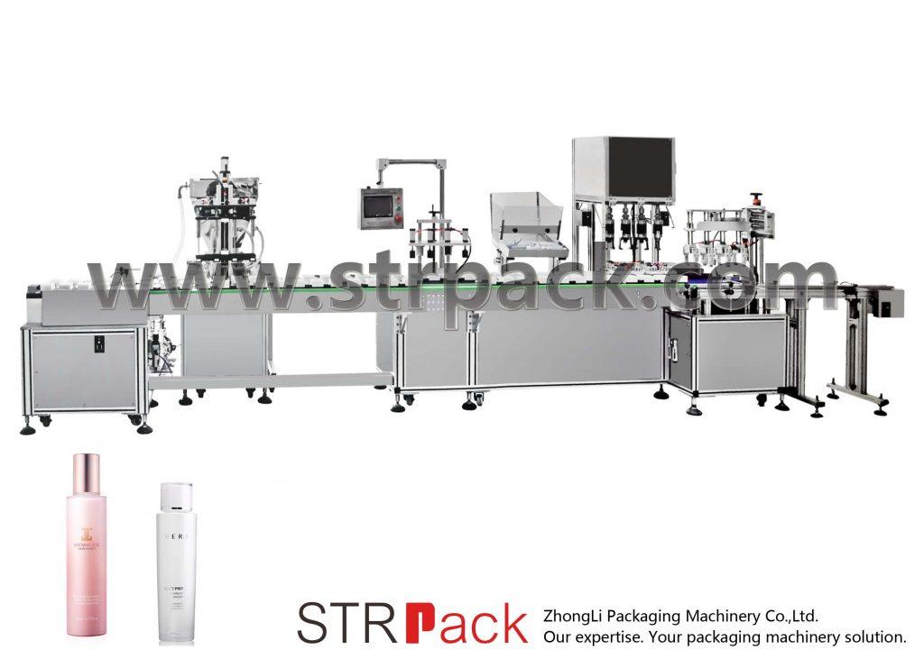 Máquina de recheo e tapado automático de emulsión de auga