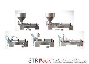 Máquina de recheo de líquido de pistón semi automático