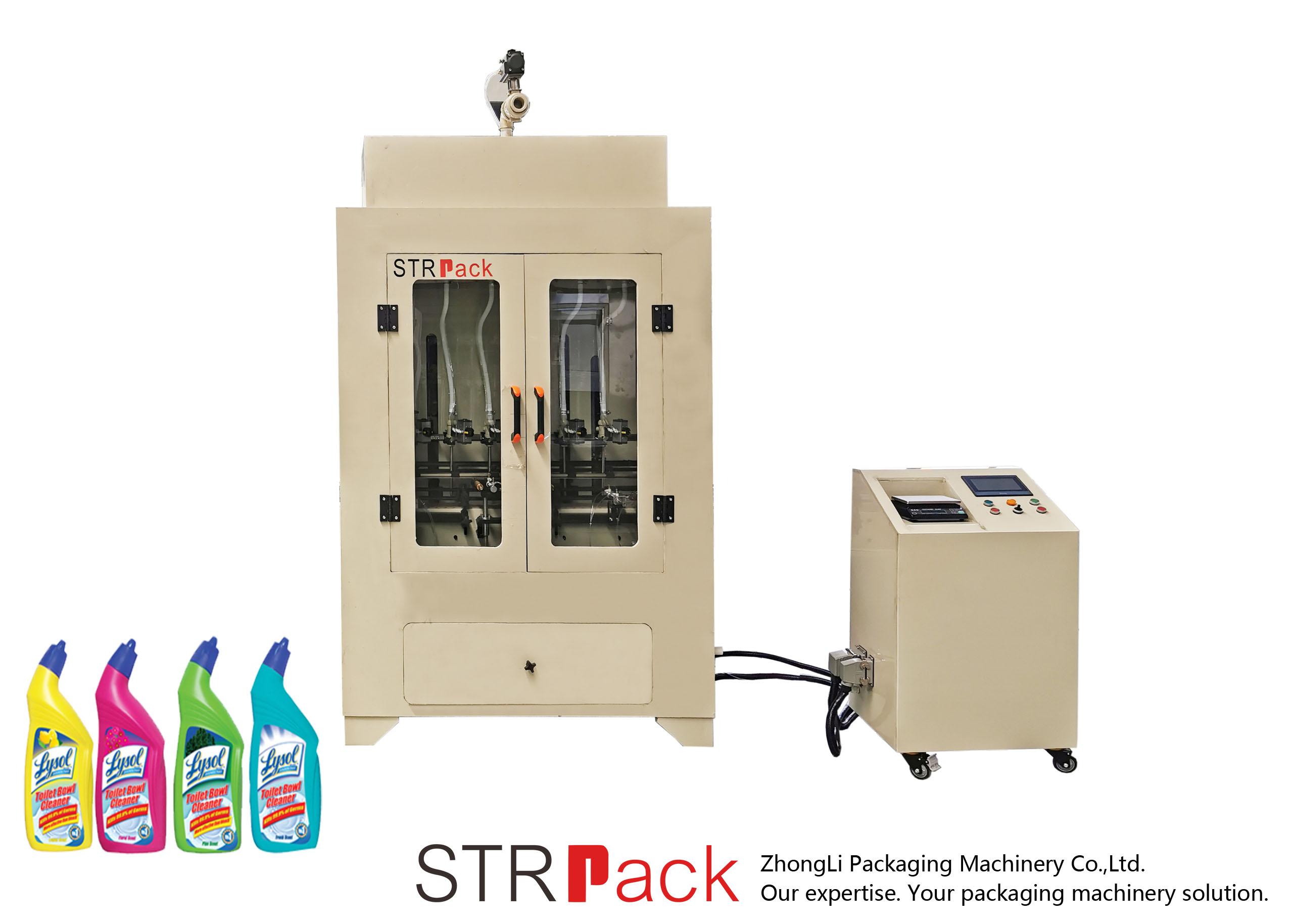 Máquina de recheo de líquido limpador de váter